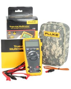 Fluke 179 TRMS Digital Multimeter and C25 CAMO Carry Case
