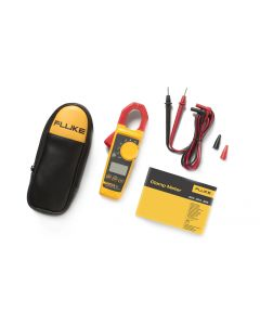 Fluke 325 showing case and leads and manual