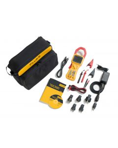 Fluke 345 with bag leads croc clips