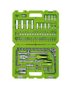 "Draper 1/4"" And 1/2"" Sq. Dr. Metric Tool Kit 100 Piece 55318"