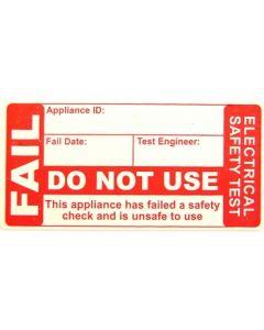 Fluke FAIL 250 PAT Labels