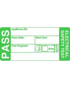 Kewtech PASS500 PAT Labels