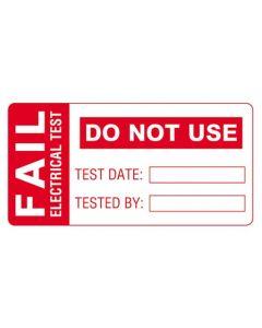 Martindale FAIL1 PAT Testing FAIL Labels