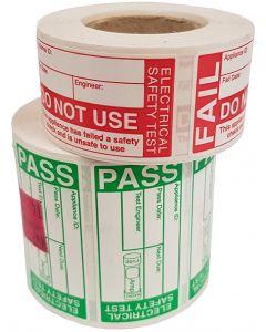 Metrel A142-700 High Capacity PASS FAIL PAT Label Kit