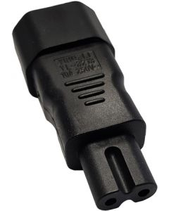 IEC C14 to C7 BS EN 60320 Mains Adapter