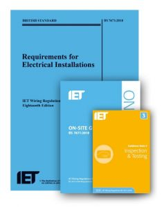 IET Wiring Regulations 18th Edition and On Site Guide and Guidance Note 3