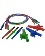 Silvertronic Unfused 3-Wire Silicone Test Lead Set