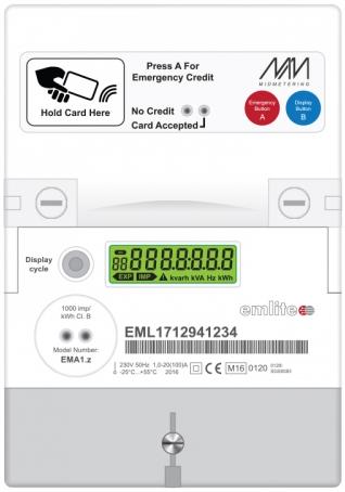 Emlite MP22 RFID Pre-payment meter