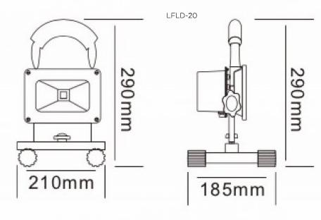 LFLD-20 Dimensions
