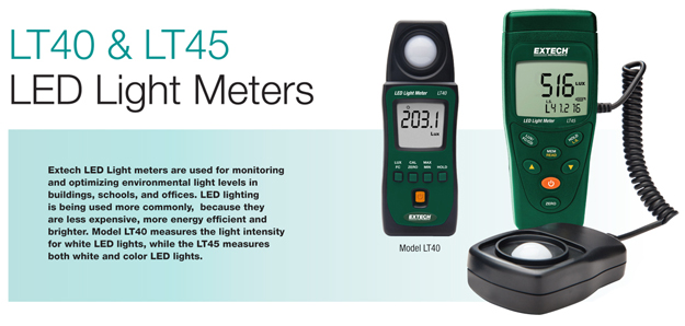 Extech LT40 & LT45 Light Meters