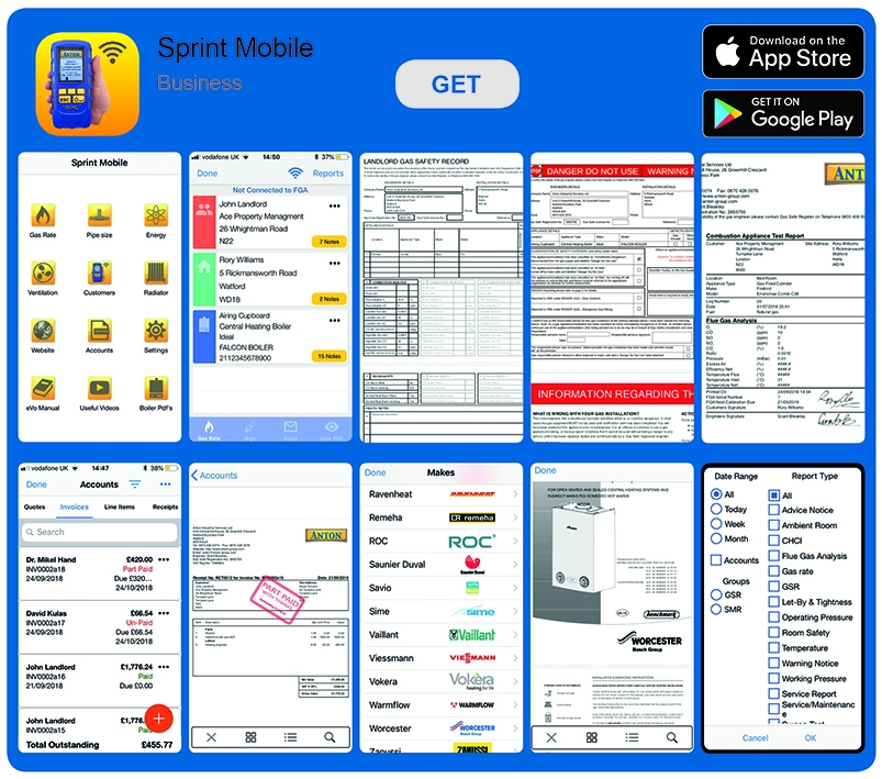 Sprint Mobile App Screens
